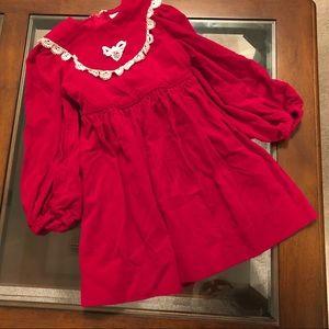 Ruth of Carolina Vintage Velveteen Lace Dress